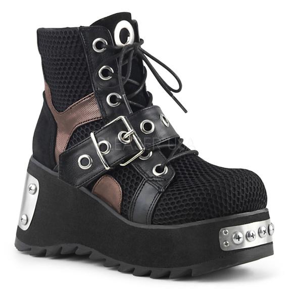 efd163c48f9023 Buckle Platform Ankle Boots Metal Gothic Punk Rock